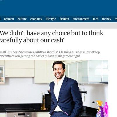 The Guardian - We didn't have any choice but to think carefully about our cash
