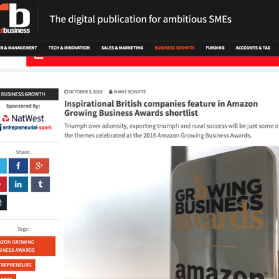 Inspirational British companies feature in Amazon Growing Business Awards shortlist