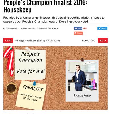 People's Champion finalist 2016: Housekeep