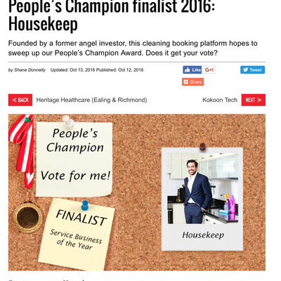 People's Champion finalist 2016: Housekeep