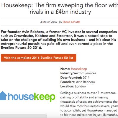 Housekeep: Everline Future 50 2016