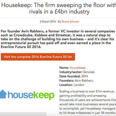 Housekeep: Everline Future 50 2016