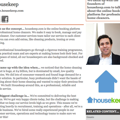 Good Web Guide - Housekeep Interview