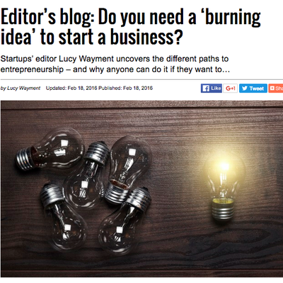 Startups.co.uk: Do you need a 'burning idea' to start a business?
