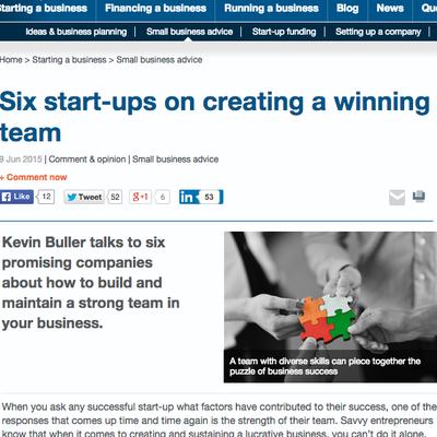 SmallBusiness.co.uk - Winning Team