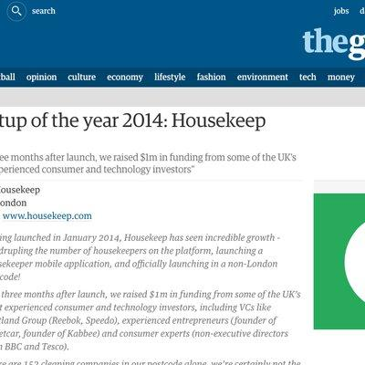 The Guardian - Start up of the Year 2014