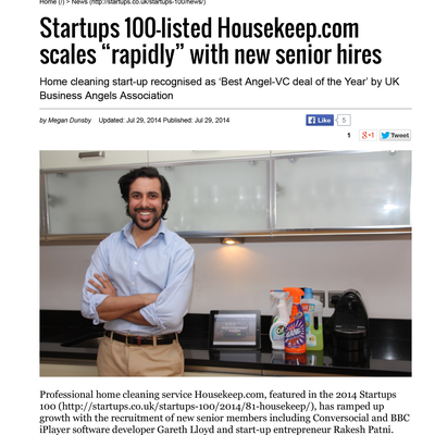 Startups.co.uk - Housekep.com scales rapidly with new senior hires