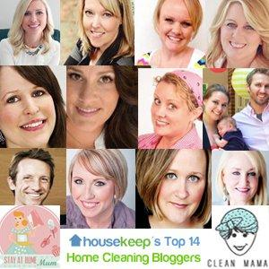 Housekeep's Top 14 Home Cleaning Bloggers